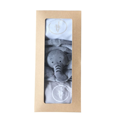 Bamboobubs Gift Set 2 Pieces Baby Kimono Bodies + Elephant Doudou