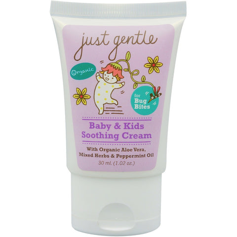 Just Gentle Baby & Kids Soothing Cream for Bug Bites (30ml) - Organic Pavilion