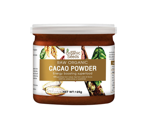 Organic Seeds Cacao Powder (125gm) - Organic Pavilion