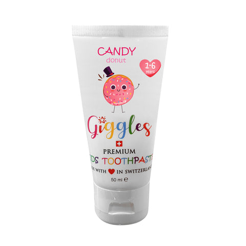 Giggles Premium Kids Toothpaste Candy Donut (50ml) - Organic Pavilion