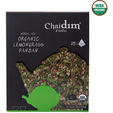 Chaidim Organic Lemongrass Pandan Herbal Tea 25 tea bags (37.5gm) - Organic Pavilion