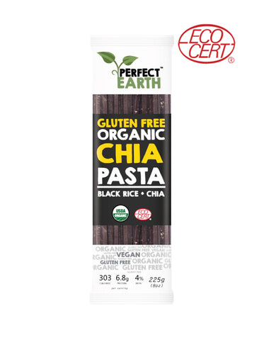 Perfect Earth Gluten Free Organic Chia Pasta Black Rice (225gm)