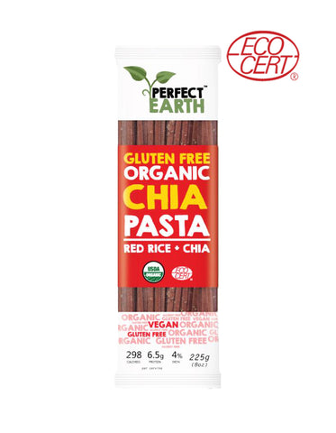 Perfect Earth Gluten Free Organic Chia Pasta Red Rice (225gm)