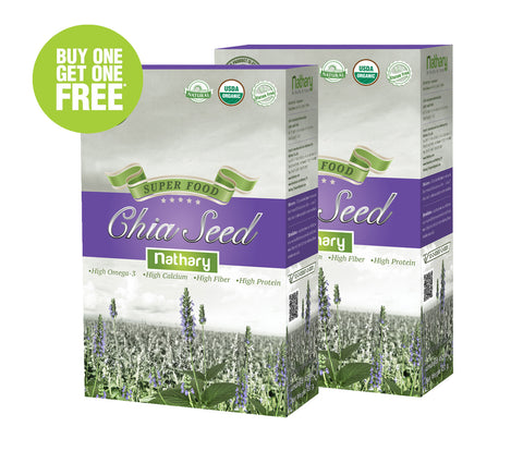 BUY 1 GET 1 FREE Nathary Chia Seed (2 Boxes x 450gm) - Organic Pavilion