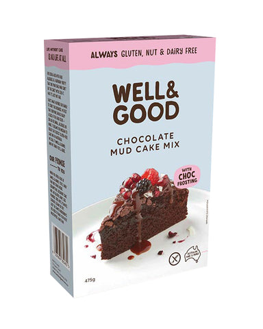 Well & Good Gluten Free Chocolate Mud Cake Mix (475gm)