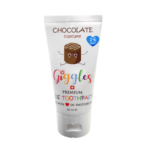 Giggles Premium Kids Toothpaste Chocolate Cupcake (50ml)