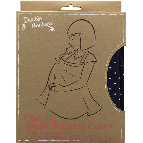 Double Monkeys Classic Style Breastfeeding Cover (3 Colors) - Organic Pavilion