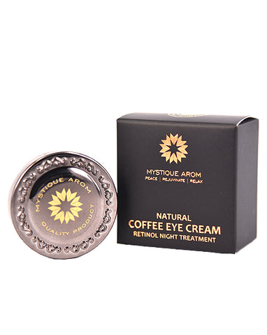Mystique Arom Natural Coffee Eye Cream Retinol Night Treatment (10ml) - Organic Pavilion