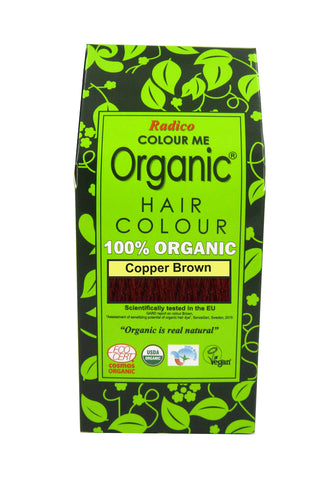 Radico Colour Me Organic Hair Colour Copper Brown (100gm) - Organic Pavilion