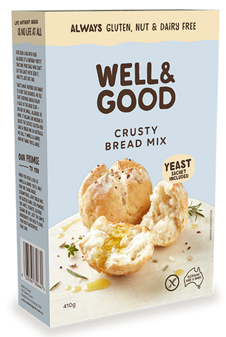 Well & Good Gluten Free Crusty Bread Mix (410gm)