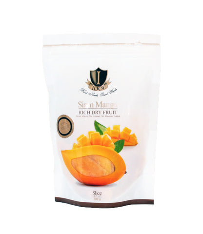 BUY 1 FREE 1 IDOL 100% Natural Rich Dry Fruit Premium Mango (2 Packets x 180gm)