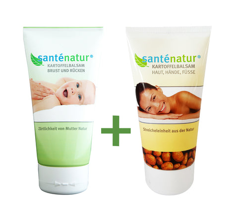 Santénatur Duo Set Potato Children Cream Chest and Back (50ml) + Potato Skin Cream, Hand & Feet (50ml)