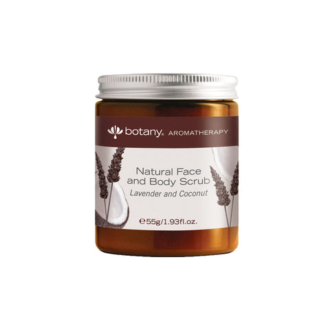 BUY 1 FREE 1 Botany Natural Face and Body Scrub, Lavender & Coconut (2 x 55gm)