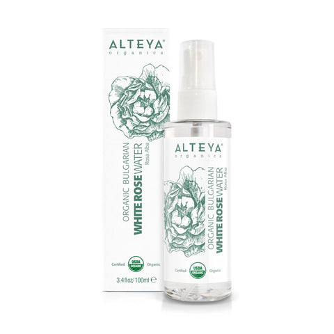 Alteya Organics Bulgarian Organic White Rose Water Spray Rosa Alba (100ml)
