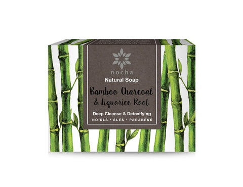 Nocha Bamboo Charcoal and Liquorice Root Soap (100gm)