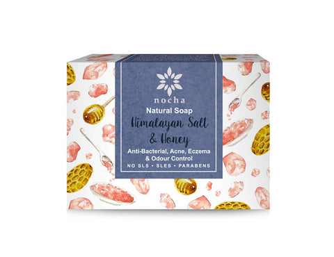 Nocha Himalayan Pink Salt and Honey Soap (100gm)