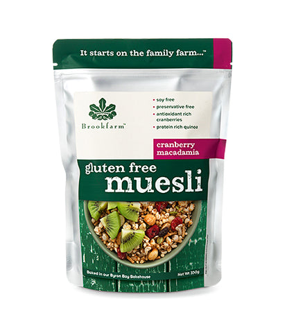 Brookfarm Gluten Free Muesli with Cranberries Macadamia (300gm)