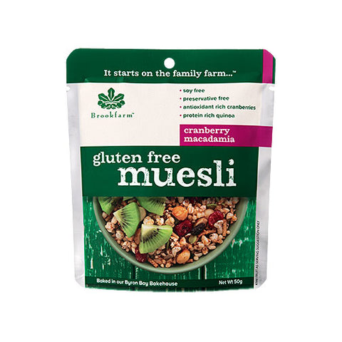 Brookfarm Gluten Free Muesli with Cranberries Macadamia (50gm)