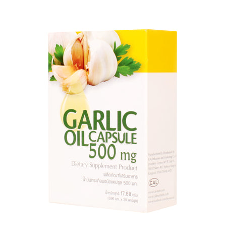 CAL Garlic Oil Dietary Supplement 30 Capsules (500mg)