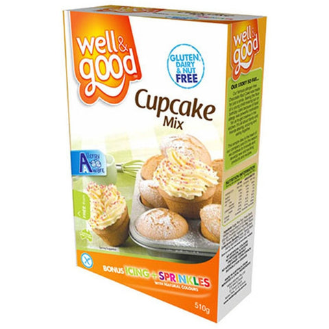 Well & Good Gluten Free Cup Cake Mix (510gm)