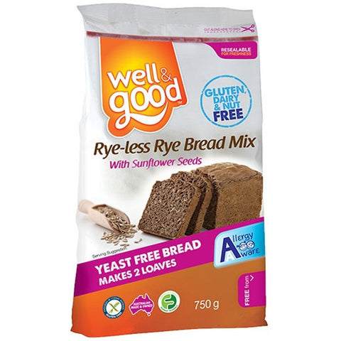 Well & Good Rye-less Rye Bread Mix (750gm)