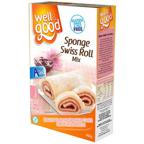 Well & Good Gluten Free Sponge / Swiss Roll Mix  (400gm)