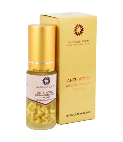 Mystique Arom Anti Aging Gold Moisturising Face Oil (30ml) - Organic Pavilion