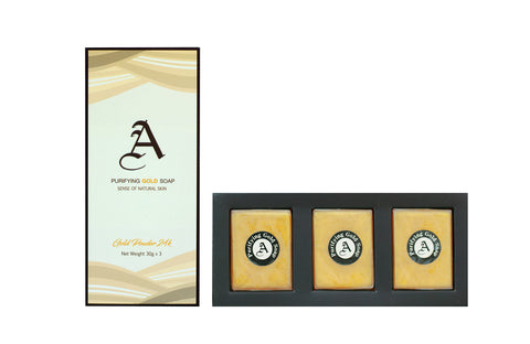Phannachat Purifying Gold Soap Set (3 x 30gm)