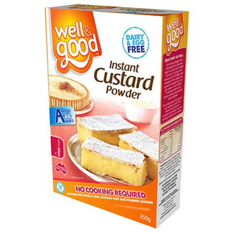Well & Good Gluten Free Instant Custard Powder (250gm)