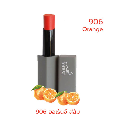 Forest Fruits Lips SPF10 Natural Coconut Lipstick 906 Orange (5g) - Organic Pavilion