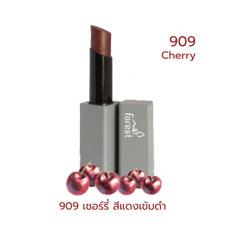 Forest Fruits Lips SPF10 Natural Coconut Lipstick 909 Cherry (5g) - Organic Pavilion