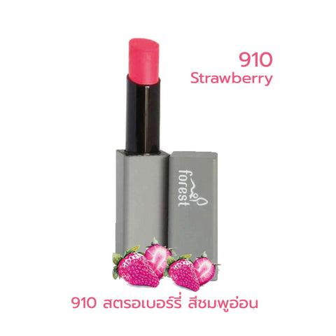 Forest Fruits Lips SPF10 Natural Coconut Lipstick 910 Strawberry (5g) - Organic Pavilion