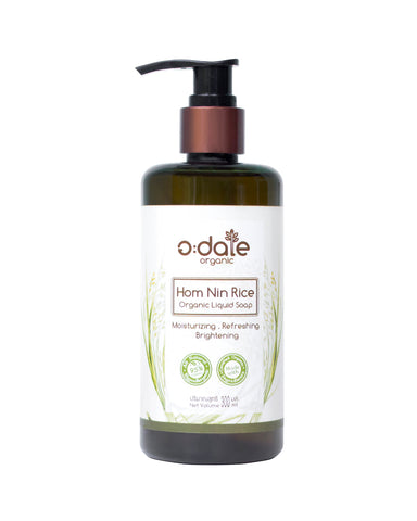 Adale Organic Hom Nin Rice Liquid Soap Peppermint (300ml)