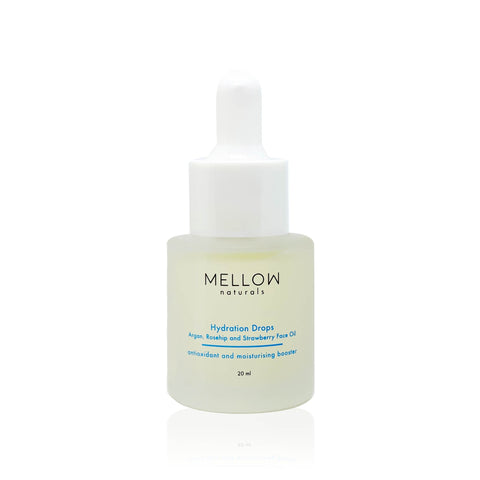 Mellow Naturals Hydration Drops Argan, Rosehip and Strawberry Face Oil (15ml)