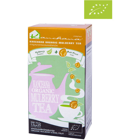 Kanchana Organic Mulberry Tea + Bael Fruit 25 Teabags (32.5g)