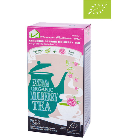 Kanchana Organic Mulberry Tea + Rose 25 Teabags (32.5g)