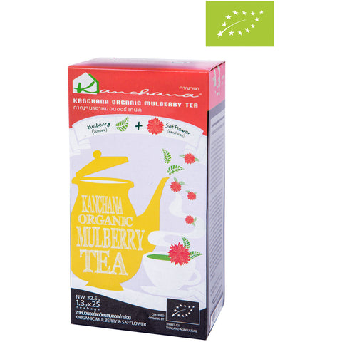 Kanchana Organic Mulberry Tea + Safflower 25 Teabags (32.5g)
