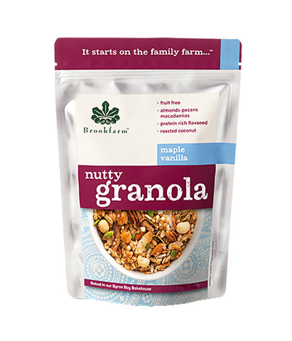 Brookfarm Nutty Granola Maple Vanilla (350gm) - Organic Pavilion
