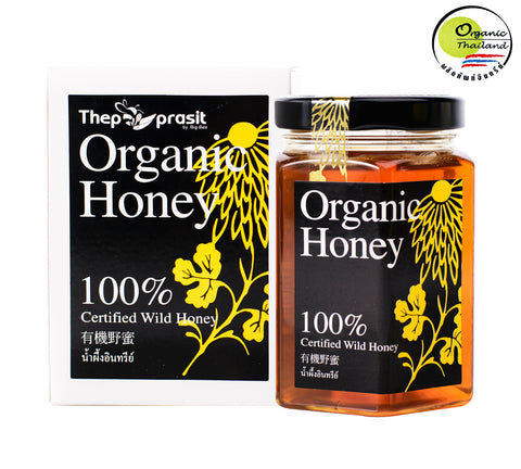 BigBee Thepprasit Organic Honey 100% Certified Wild Honey (300gm) - Organic Pavilion