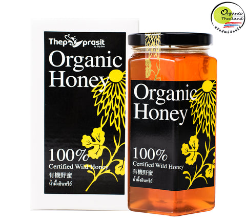 BigBee Thepprasit Organic Honey 100% Certified Wild Honey (600gm) - Organic Pavilion