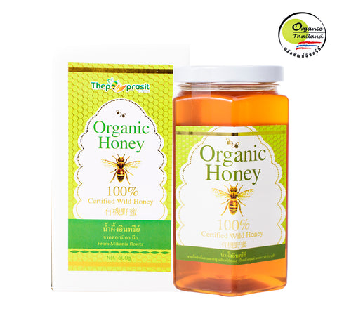 BigBee Thepprasit Organic Honey 100% Certified Wild Honey Mikania Flower (600gm) - Organic Pavilion
