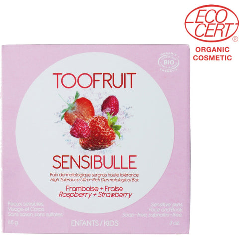 TooFruit Sensibulle Soap Raspberry + Strawberry (85gm) - Organic Pavilion