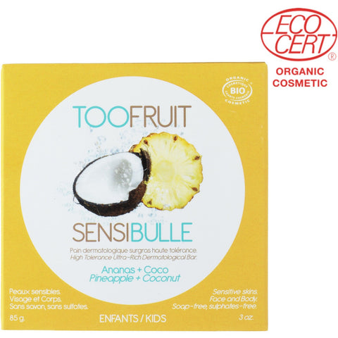 TooFruit Sensibulle Soap Pineapple + Coconut Soap (85gm) - Organic Pavilion