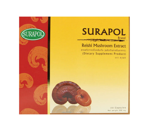 Dr. Surapol Reishi Extract 30 Capsules (500mg)