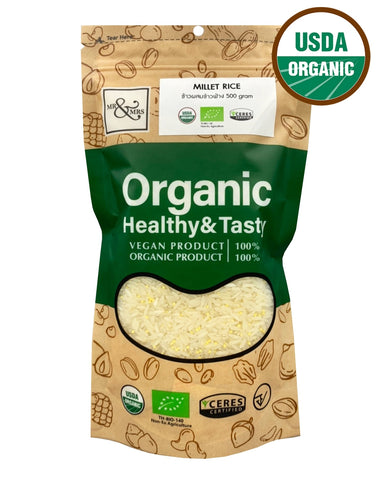 Mr. & Mrs. Jasmine Rice mixed with Organic Millet (500g) - Organic Pavilion