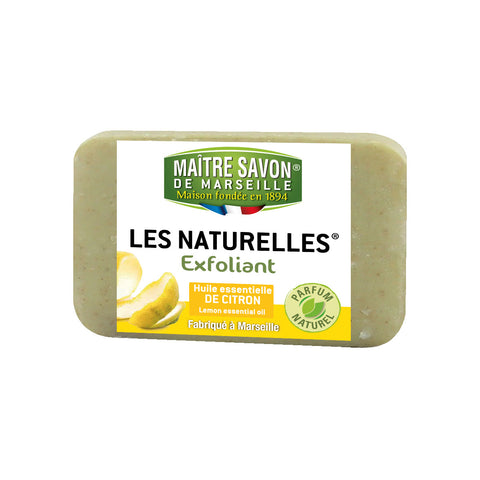 Maitre Savon Les Naturelles Essential Oil Scrub Soap Lemon (150gm) - Organic Pavilion