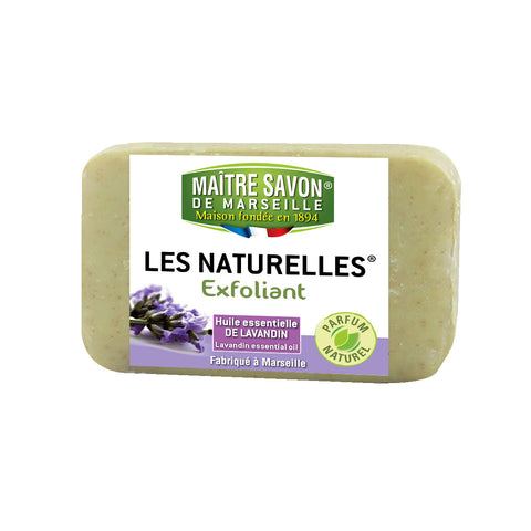 Maitre Savon Les Naturelles Essential Oil Scrub Soap Lavender (150gm)