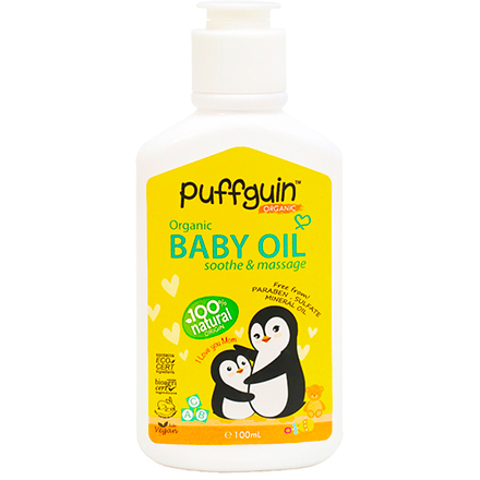 Puffguin Baby Oil for Soothing Skin and Massage (100ml)