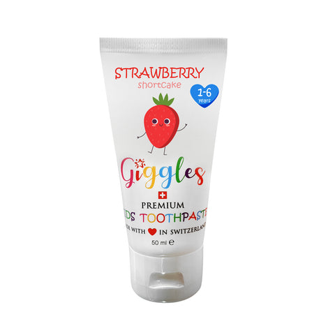 Giggles Premium Kids Toothpaste Strawberry Shortcake (50ml)