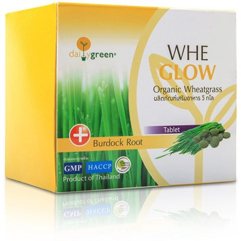 Daily Green Whe Glow Organic Wheatgrass Burdock Root Tablet (2.5gm (5 tablets per sachet) x 20 sachets) (50gm)